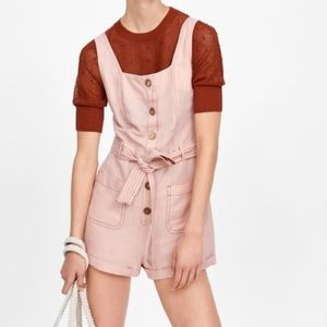 Pink Button Front Romper